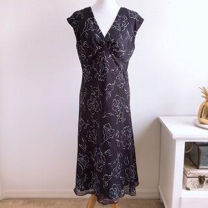 Chaps Empire Cut Navy Maxi Dress